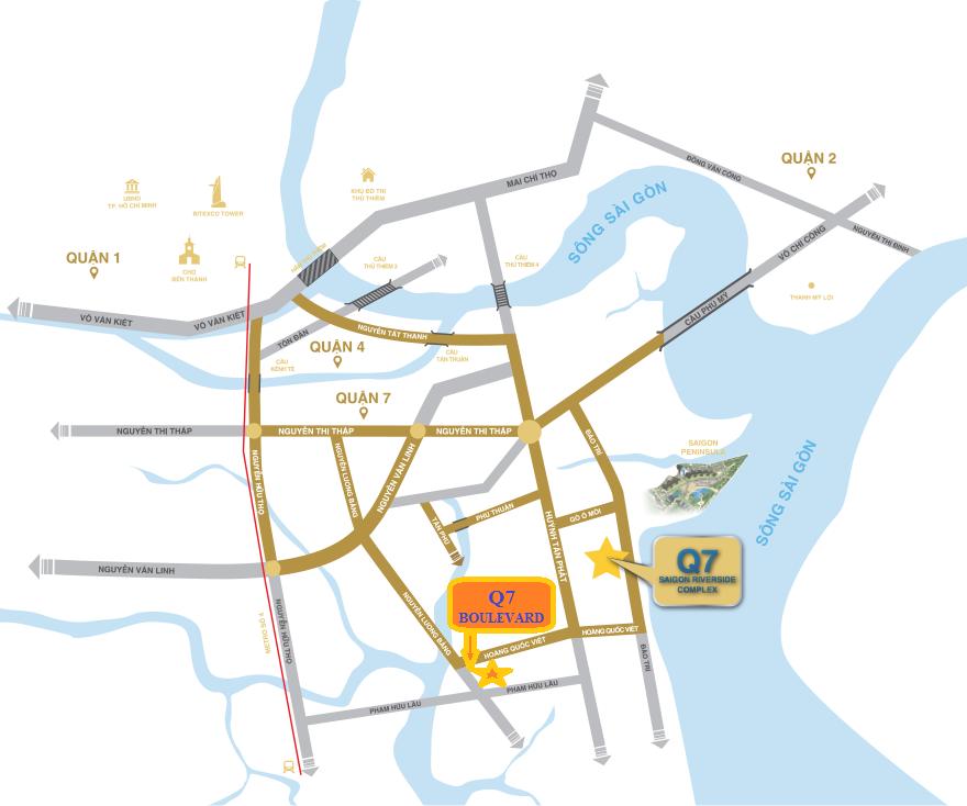 vị trí q7 boulevard
