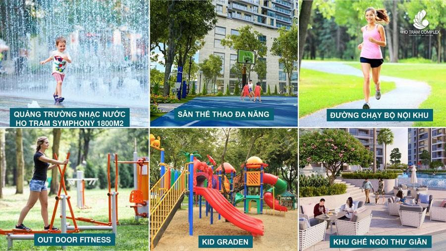 Công viên trung tâm tại căn hộ richmond city